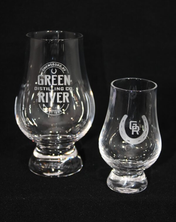 This photo is to show the scale of the mini Glencarin. Glass on left is not included.
